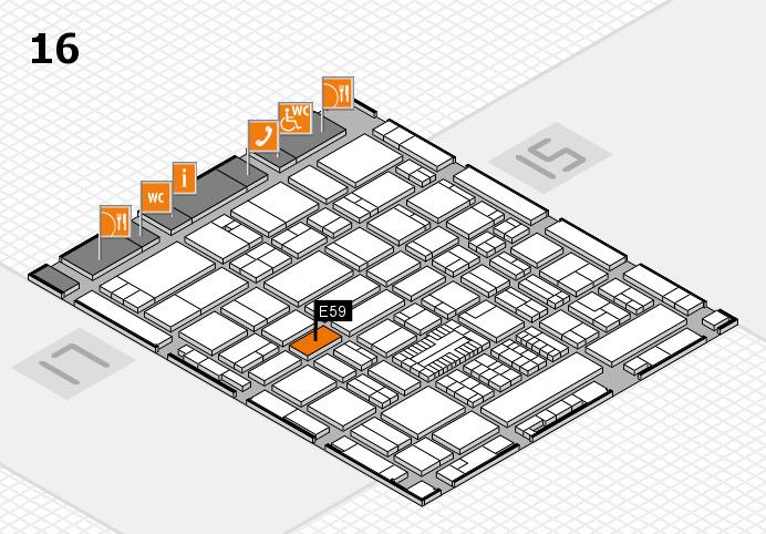 ProWein 2017 hall map (Hall 16): stand E59