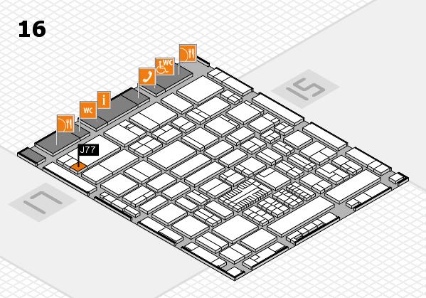 ProWein 2017 hall map (Hall 16): stand J77