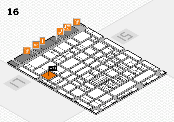 ProWein 2017 hall map (Hall 16): stand H78