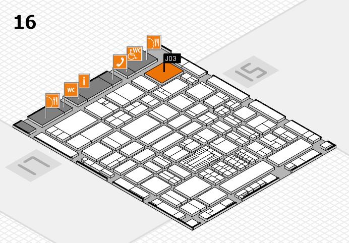 ProWein 2017 hall map (Hall 16): stand J03
