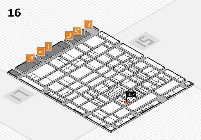 ProWein 2017 hall map (Hall 16): stand B57