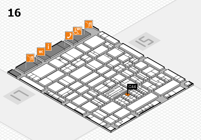 ProWein 2017 hall map (Hall 16): stand C44