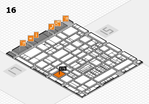 ProWein 2017 Hallenplan (Halle 16): Stand E78