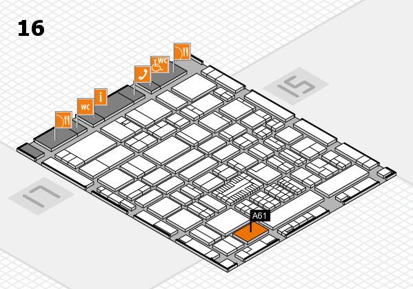 ProWein 2017 Hallenplan (Halle 16): Stand A61