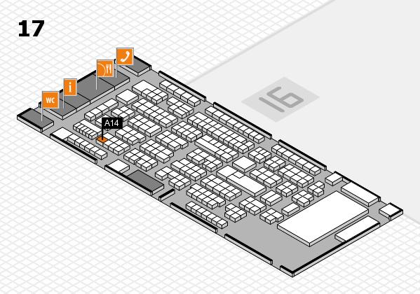 ProWein 2017 Hallenplan (Halle 17): Stand A14