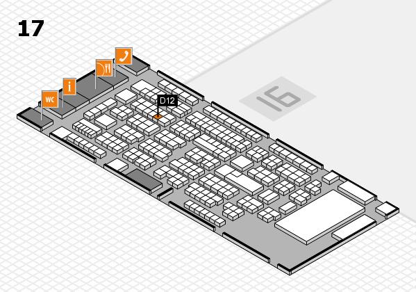 ProWein 2017 Hallenplan (Halle 17): Stand D12