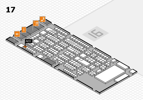 ProWein 2017 Hallenplan (Halle 17): Stand A03