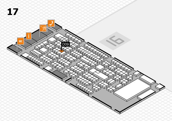 ProWein 2017 Hallenplan (Halle 17): Stand D09