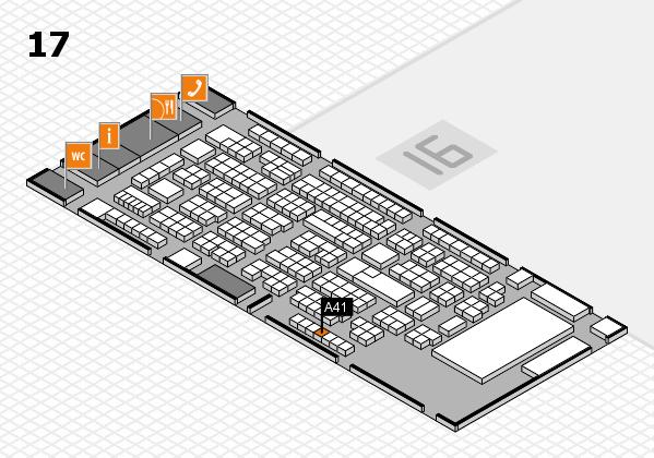 ProWein 2017 Hallenplan (Halle 17): Stand A41