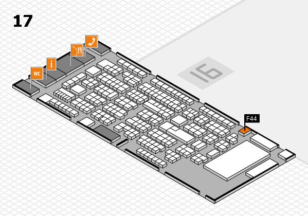 ProWein 2017 Hallenplan (Halle 17): Stand F44
