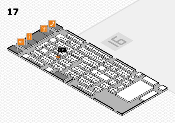 ProWein 2017 Hallenplan (Halle 17): Stand C11