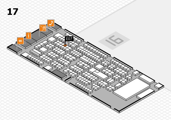 ProWein 2017 hall map (Hall 17): stand E07