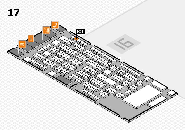 ProWein 2017 Hallenplan (Halle 17): Stand F04