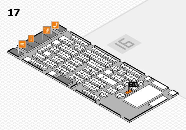 ProWein 2017 Hallenplan (Halle 17): Stand C46