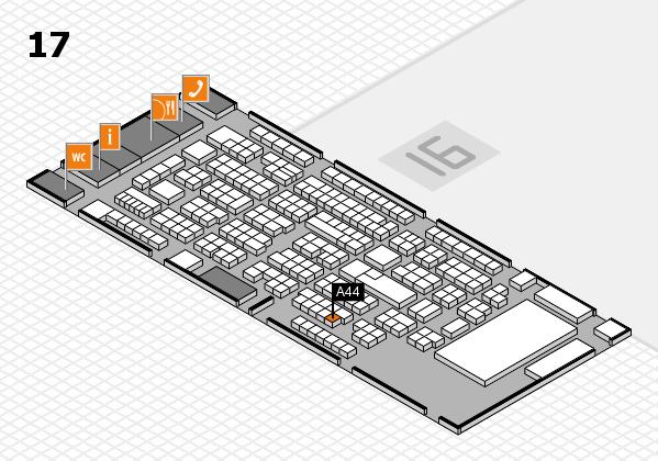 ProWein 2017 Hallenplan (Halle 17): Stand A44