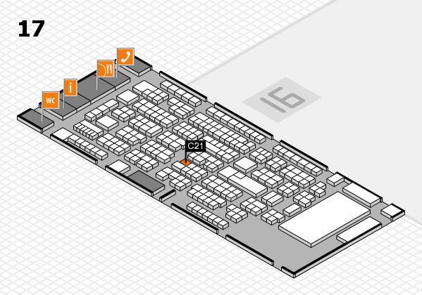 ProWein 2017 Hallenplan (Halle 17): Stand C21