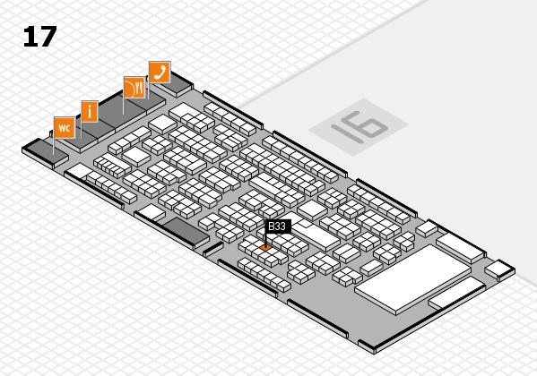 ProWein 2017 Hallenplan (Halle 17): Stand B33