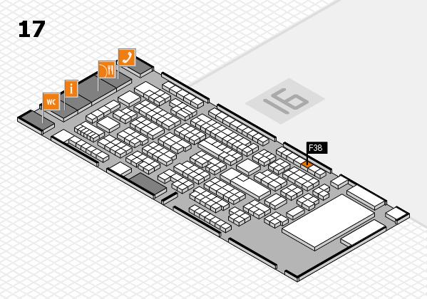 ProWein 2017 Hallenplan (Halle 17): Stand F38