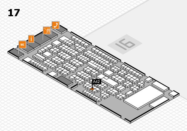 ProWein 2017 Hallenplan (Halle 17): Stand A42