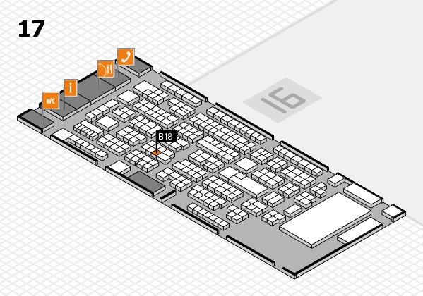 ProWein 2017 Hallenplan (Halle 17): Stand B18