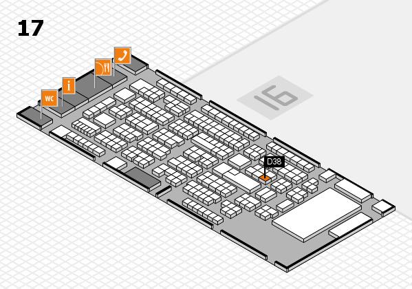 ProWein 2017 Hallenplan (Halle 17): Stand D38
