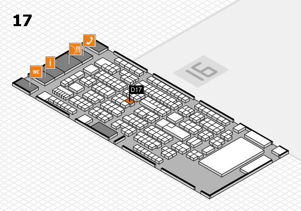 ProWein 2017 Hallenplan (Halle 17): Stand D17