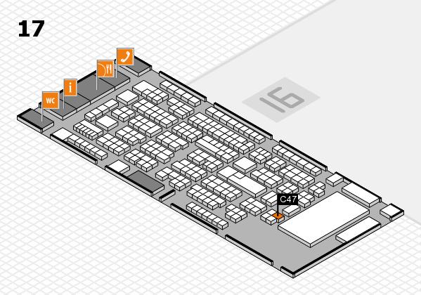 ProWein 2017 Hallenplan (Halle 17): Stand C47