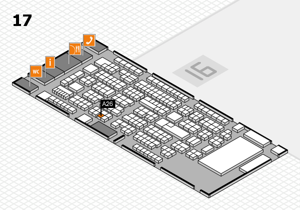 ProWein 2017 hall map (Hall 17): stand A26