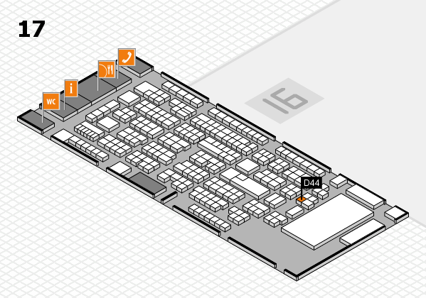 ProWein 2017 Hallenplan (Halle 17): Stand D44