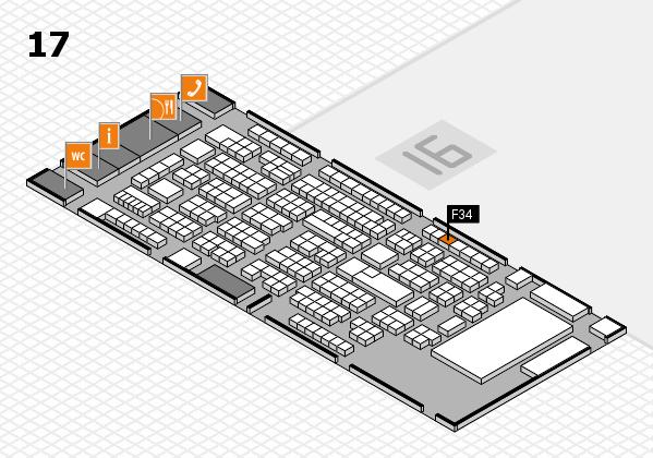 ProWein 2017 Hallenplan (Halle 17): Stand F34