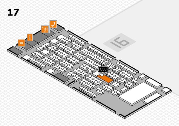 ProWein 2017 Hallenplan (Halle 17): Stand C30