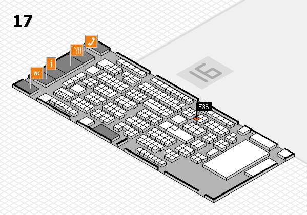 ProWein 2017 Hallenplan (Halle 17): Stand E38