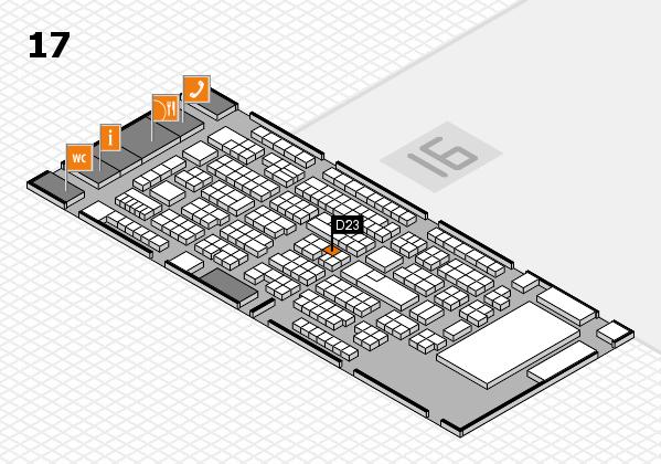 ProWein 2017 Hallenplan (Halle 17): Stand D23