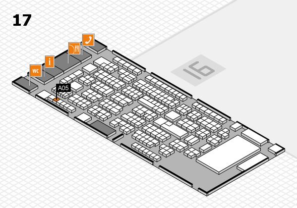 ProWein 2017 Hallenplan (Halle 17): Stand A05
