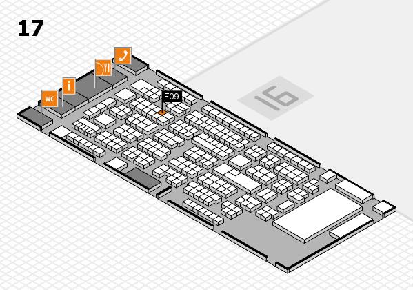 ProWein 2017 Hallenplan (Halle 17): Stand E09