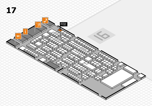 ProWein 2017 Hallenplan (Halle 17): Stand F02