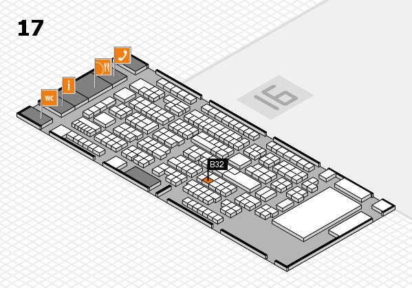 ProWein 2017 Hallenplan (Halle 17): Stand B32