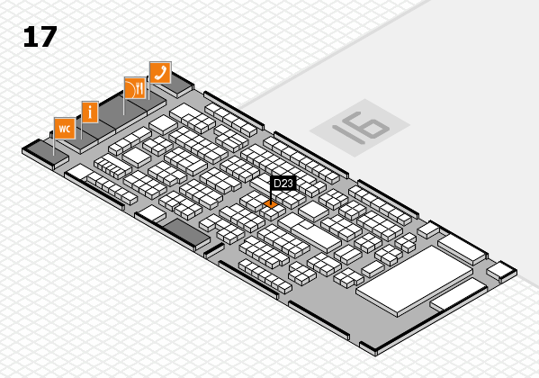 ProWein 2017 hall map (Hall 17): stand D23