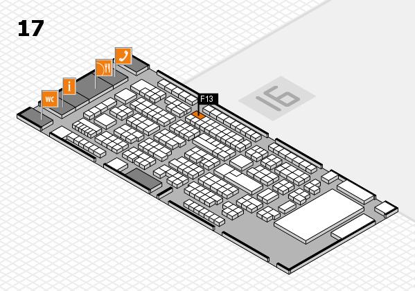 ProWein 2017 Hallenplan (Halle 17): Stand F13