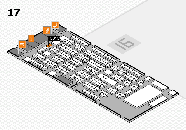 ProWein 2017 hall map (Hall 17): stand C01C