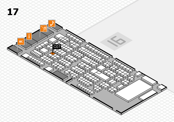 ProWein 2017 hall map (Hall 17): stand C07