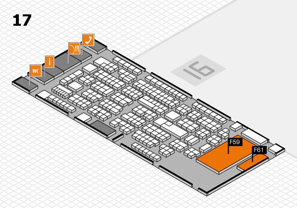 ProWein 2017 Hallenplan (Halle 17): Stand F59