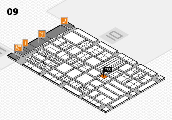 ProWein 2018 hall map (Hall 9): stand E55