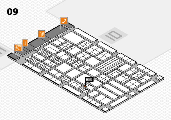 ProWein 2018 hall map (Hall 9): stand B58