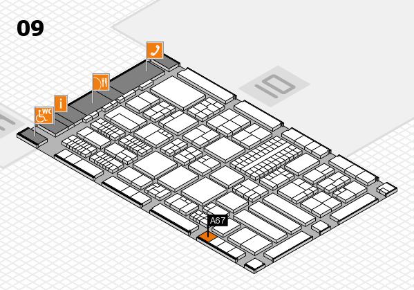 ProWein 2018 Hallenplan (Halle 9): Stand A67