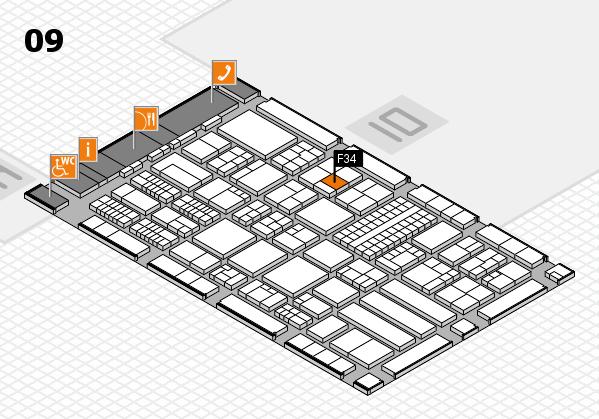 ProWein 2018 Hallenplan (Halle 9): Stand F34