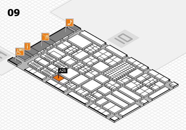 ProWein 2018 Hallenplan (Halle 9): Stand A28
