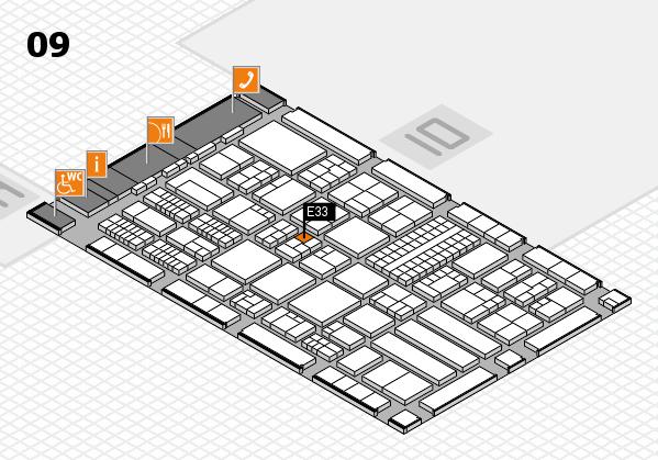 ProWein 2018 hall map (Hall 9): stand E33
