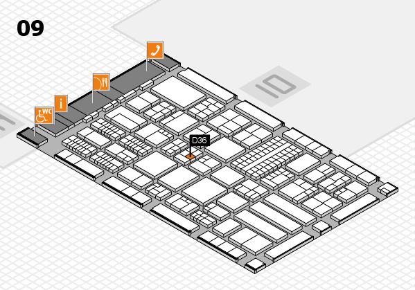 ProWein 2018 Hallenplan (Halle 9): Stand D36