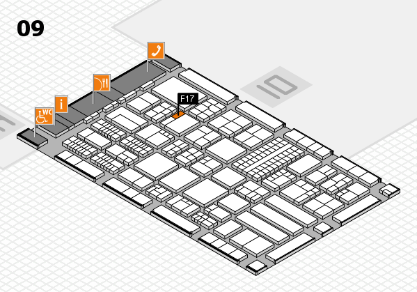 ProWein 2018 hall map (Hall 9): stand F17